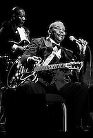 Legendary blues guitarist BB King performing live at The Stardust in Las Vegas