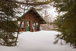 Haskell Hut in Maine's Katahdin Woods and Waters National Monument.