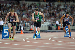 16/07/2017 : Michael McKillop (IRL), Liam Stanley (CAN), Louis Radius (FRA), Men's 800m, T38, Final, at the 2017 World Para Athletics Championships, Olympic Stadium, London, United Kingdom