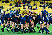 Maul during the super rugby union  game between Hurricanes  and Highlanders, played at Westpac Stadium, Wellington, New Zealand on 24 March 2018.  Hurricanes won 29-12.