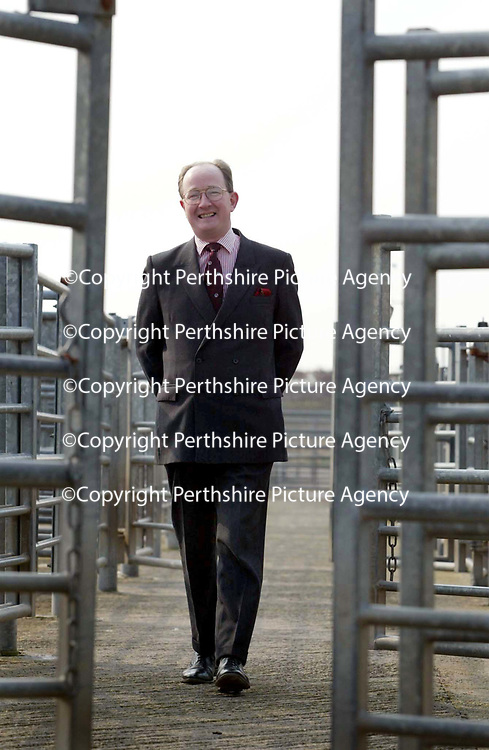 David Leggat...3.4.2002. Attn P&amp;J Farm Journal.<br />David Leggat of United Auctions in Perth who is the new president of The Institute of Auctioneers.<br /><br />Picture by John Lindsay .<br />COPYRIGHT: Perthshire Picture Agency.<br />Tel. 01738 623350 / 07775 852112.