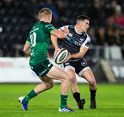 Scott Williams of Ospreys in action during todays match<br /> <br /> Photographer Simon King/Replay Images<br /> <br /> Guinness PRO14 Round 6 - Ospreys v Connacht - Saturday 2nd November 2019 - Liberty Stadium - Swansea<br /> <br /> World Copyright © Replay Images . All rights reserved. info@replayimages.co.uk - http://replayimages.co.uk