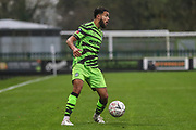Forest Green Rovers Dominic Bernard(3) on the ball during the The FA Cup match between Forest Green Rovers and Billericay Town at the New Lawn, Forest Green, United Kingdom on 9 November 2019.