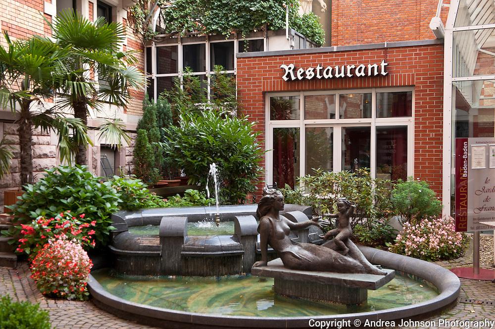 Le Jardin french restaurant, Baden Baden, Germany