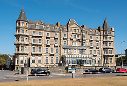 © Licensed to London News Pictures; File picture dated 25/05/2020; Weston-super-Mare, UK. The Grand Atlantic hotel, an icon on Weston's seafront, is to close after its owners Specialist Leisure Group went into administration. The turreted Victorian hotel overlooking the Bristol Channel and the Beach Lawns is one of the casualties of the group's collapse which will mean the loss of some 2,500 jobs and 64,000 bookings.<br /> Specialist Leisure Group, based in Wigan, also operated Caledonian Travel and hotel businesses such as Bay Hotels, Coast and Country Hotels and Country Living Hotels.<br /> Their website says all tours, cruises, holidays and hotel breaks had been cancelled and would not be rescheduled, and blames the impact of the Covid-19 coronavirus pandemic. Photo credit: Simon Chapman/LNP.