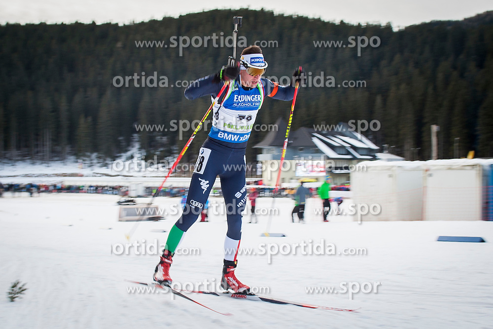 Dominik Windisch (ITA) during Men 10 km Sprint at day 1 of IBU Biathlon World Cup 2015/16 Pokljuka, on December 17, 2015 in Rudno polje, Pokljuka, Slovenia. Photo by Urban Urbanc / Sportida