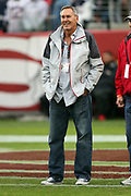Former San Francisco 49ers wide receiver Dwight Clark makes an appearance on alumni day before the San Francisco 49ers 2016 NFL week 11 regular season football game against the New England Patriots on Sunday, Nov. 20, 2016 in Santa Clara, Calif. The Patriots won the game 30-17. (©Paul Anthony Spinelli)
