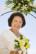 Mother of Bride With Bouquet