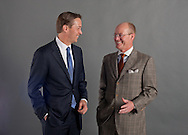 """Portrait of """"unknown CEO"""" and Jeffrey Gardner, CEO of Windstream, at the Business Roundtable Reception with President Obama at the Newseum on March 6th, 2012. of several CEOs at the Business Roundtable Reception with President Obama at the Newseum on March 6th, 2012."""
