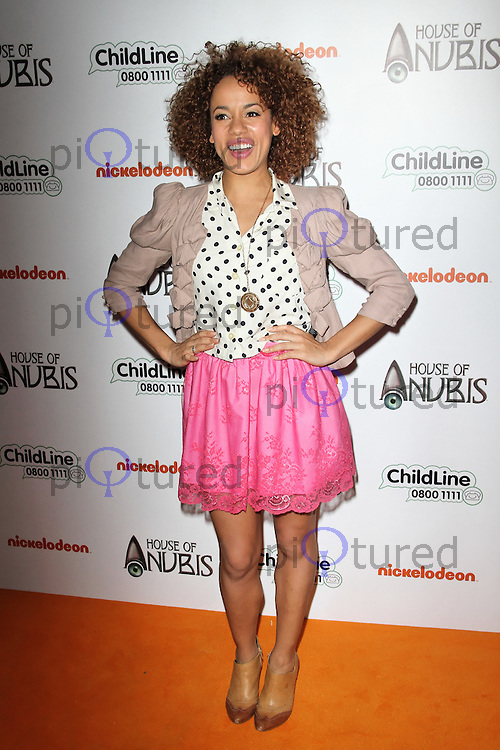 LONDON - MARCH 11: Helena Dowling attends the UK TV Premiere of Nickelodeon's 'House Of Anubis Season 2' at the Freemasons' Hall, London, UK. March 11, 2012. (Photo by Richard Goldschmidt)