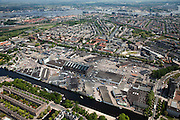Nederland, Amsterdam, Westerpark, 25-05-2010. Amsterdam-West met Centrale Markthallen (Groothandelsmarkt, Food Center Amsterdam) aan de Jan van Galenstraat. .Amsterdam-West with Central Market (Wholesale, Food Center Amsterdam) at the Jan van Galenstraat. .luchtfoto (toeslag), aerial photo (additional fee required).foto/photo Siebe Swart