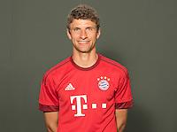 German Soccer Bundesliga 2015/16 - Photocall of FC Bayern Munich on 16 July 2015 in Munich, Germany: Thomas Mueller