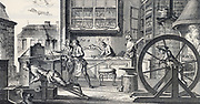 Cutler;s workshop. From Diderot 'Encyclopedie' c1751.