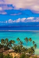 Temae Beach, island of Moorea, French Polynesia.
