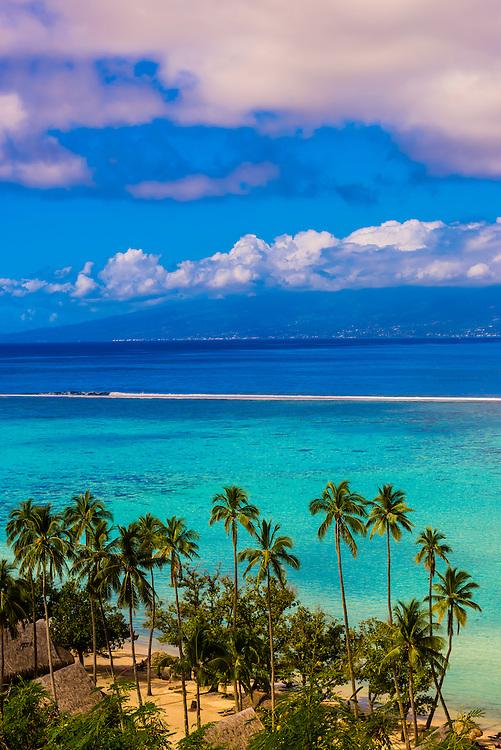 Temae Beach, island of Moorea, French Polynesia.