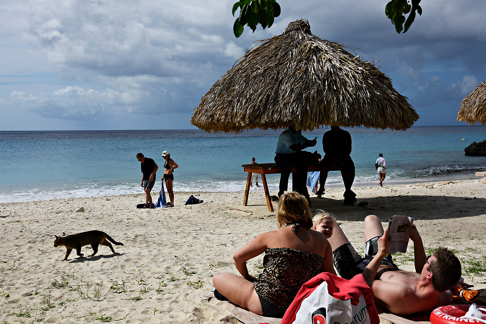 WILLEMSTAD, CURACAO - DECEMBER 12, 2014: The beach at Grote Knip in Curacao is popular with locals and SCUBA divers. (photo by Melissa Lyttle)