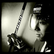 Ice Men Cometh…LI Ning, 18, China..An iPhone portrait series on young men competing in the 2012 IIHF Ice Hockey World Championships Division 3. The tournament  was contested by countries New Zealand, Iceland, China, Bulgaria and Turkey at Dunedin Ice Stadium. Dunedin, Otago, New Zealand. 17th January 2012. Photo Tim Clayton