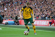 Vaidas Slavickas of Lithuania about to cross the ball during the FIFA World Cup Qualifier group stage match between England and Lithuania at Wembley Stadium, London, England on 26 March 2017. Photo by Matthew Redman.