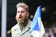 QPR fan coming onto the pitch to taunt the Birmingham City fans during the Sky Bet Championship match between Queens Park Rangers and Birmingham City at the Loftus Road Stadium, London, England on 27 February 2016. Photo by Matthew Redman.