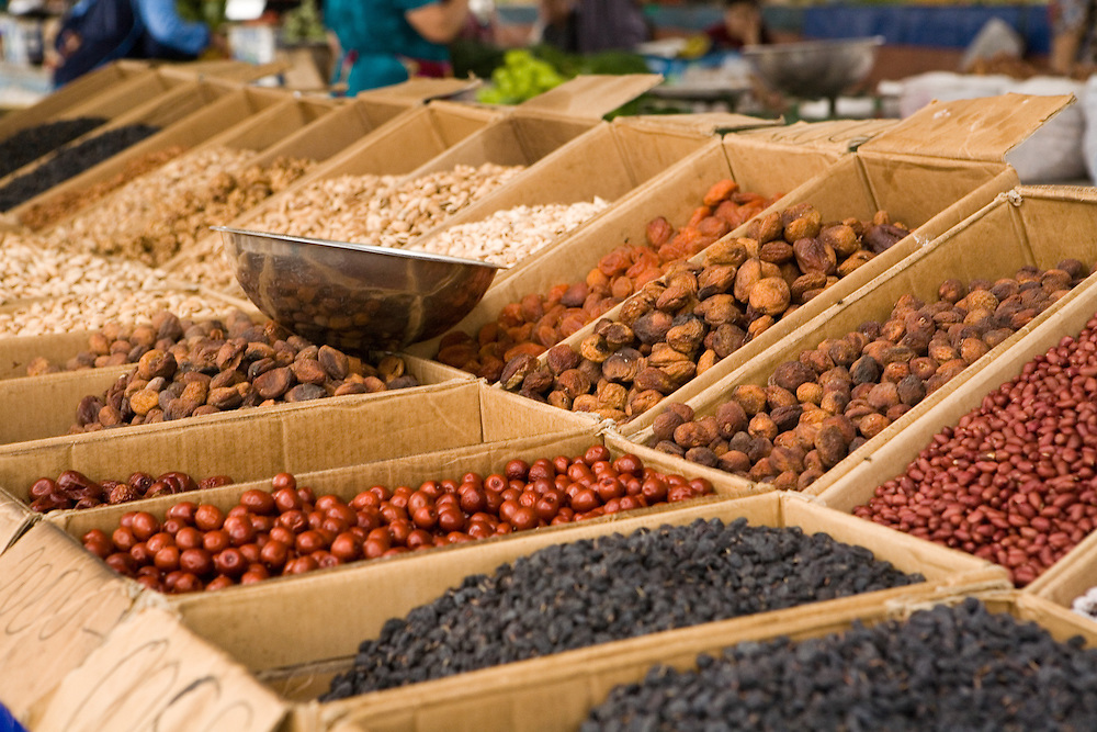 Nuts and dried fruit for sale, Khiva