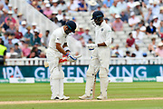 Virat Kohli (captain) of India adjusts his bat grip during second day of the Specsavers International Test Match 2018 match between England and India at Edgbaston, Birmingham, United Kingdom on 2 August 2018. Picture by Graham Hunt.