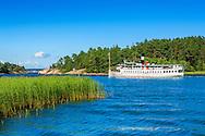 Skärgårdsbåten Saltsjön vid Utö i Stockholms skärgård