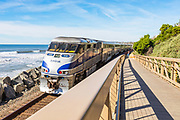 Amtrak Train Passing Through San Clemente