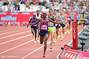 Mo Farah wins the 3000m Men during the Muller Anniversary Games at the London Stadium, London, England on 9 July 2017. Photo by Jon Bromley.