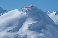 Backcountry skiing Mount Baker Wilderness. North Cascades Washington