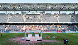 28.05.2017, Red Bull Arena, Salzburg, AUT, 1. FBL, FC Red Bull Salzburg vs Cashpoint SCR Altach, 36. Runde, im Bild die leere Meistertribüne mit fast leerem Stadion // during Austrian Football Bundesliga 36th round Match between FC Red Bull Salzburg and Cashpoint SCR Altach at the Red Bull Arena, Salzburg, Austria on 2017/05/28. EXPA Pictures © 2017, PhotoCredit: EXPA/ JFK