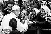 Vatican City jan 13th 2016, weekly general audience. In the picture pope Francis