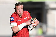 Scarlets Hadleigh Parkes<br /> <br /> Photographer Mike Jones/Replay Images<br /> <br /> Guinness PRO14 Round 22 - Scarlets v Cheetahs - Saturday 5th May 2018 - Parc Y Scarlets - Llanelli<br /> <br /> World Copyright &copy; Replay Images . All rights reserved. info@replayimages.co.uk - http://replayimages.co.uk
