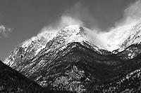 Mount Chapin Rocky Mountain National Park B&W Distance - Mountain Waves