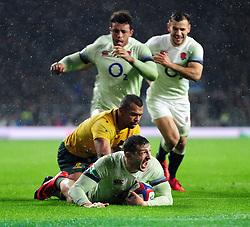 Jonny May of England scores a try in the second half - Mandatory byline: Patrick Khachfe/JMP - 07966 386802 - 18/11/2017 - RUGBY UNION - Twickenham Stadium - London, England - England v Australia - Old Mutual Wealth Series International