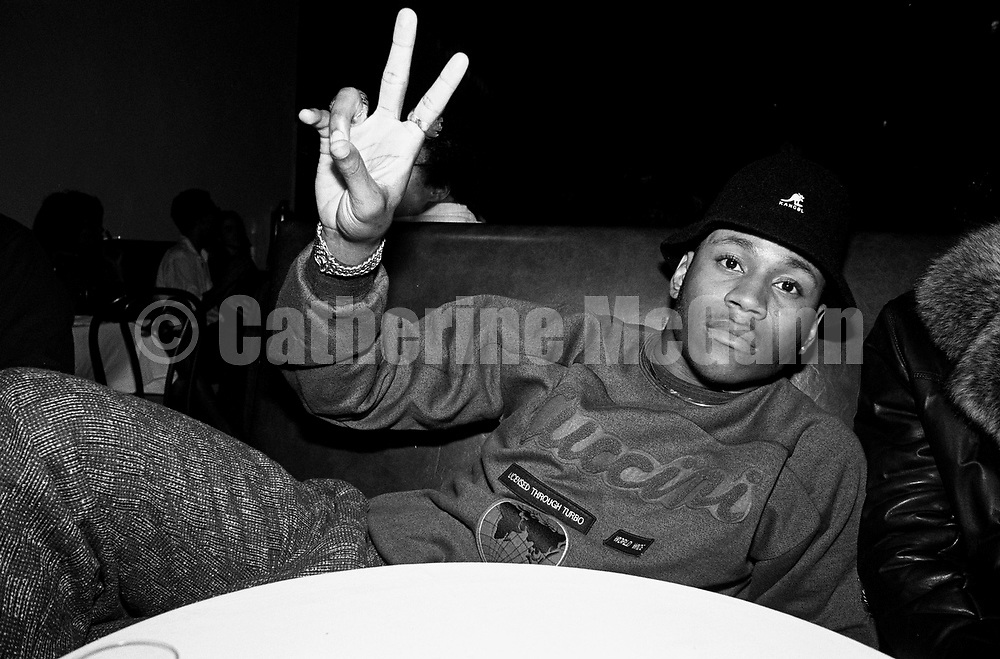 """NEW YORK - SEPTEMBER 15:  American rapper and actor LL Cool J (aka James Todd Smith) flashes a peace sign at a record release party for Run DMC's album """"Tougher than Leather"""" at the Palladium on September 15, 1988 in New York City, New York.  (Photo by Catherine McGann).Copyright 2010 Catherine McGann"""