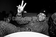"NEW YORK - SEPTEMBER 15:  American rapper and actor LL Cool J (aka James Todd Smith) flashes a peace sign at a record release party for Run DMC's album ""Tougher than Leather"" at the Palladium on September 15, 1988 in New York City, New York.  (Photo by Catherine McGann).Copyright 2010 Catherine McGann"