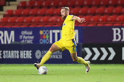 AFC Wimbledon midfielder Scott Wagstaff (7) dribbling during the EFL Trophy match between Charlton Athletic and AFC Wimbledon at The Valley, London, England on 4 September 2018.
