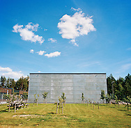 Halden Prison, Norway, June 2014:<br /> The cultural building is located in the heart of the prison area, and contains a holy room and a sports hall that is sometimes used for cultural events.<br /> -- No commercial use --<br /> Photo: Knut Egil Wang/Moment/INSTITUTE