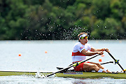 Hamilton, NEW ZEALAND.   CAN M1X. Malcolm HOWARD, moves away from the start in his heat of the men's single sculls. 2010 World Rowing Championship on Lake Karapiro Monday 01.11.2010. [Mandatory Credit Peter Spurrier:Intersport Images].