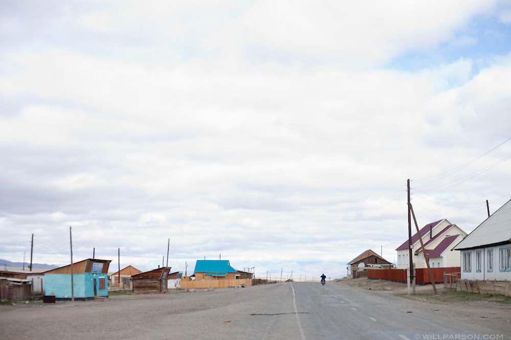 Russian border with western Mongolia