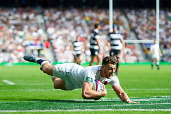 Johnny Williams of the England XV scores a try in the second half - Mandatory byline: Patrick Khachfe/JMP - 07966 386802 - 02/06/2019 - RUGBY UNION - Twickenham Stadium - London, England - England XV v Barbarians - Quilter Cup International