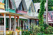 Gingerbread cottages, Oak Bluffs, Martha's Vineyard, Massachusetts, USA