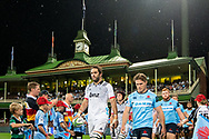 SYDNEY, NSW - MARCH 23: Waratahs player Michael Hooper (7) and Crusaders player Sam Whitelock (5) walk onto the field at round 6 of Super Rugby between NSW Waratahs and Crusaders on March 23, 2019 at The Sydney Cricket Ground, NSW. (Photo by Speed Media/Icon Sportswire)