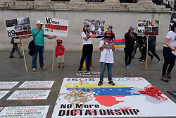 July 29, 2017 - London, United Kingdom - Members of London's venezuelan community hold a protest in trafalger square against Venezuela's president, Nicolás Maduro in London, on July 29, 2017. (Credit Image: © Jay Shaw Baker/NurPhoto via ZUMA Press)