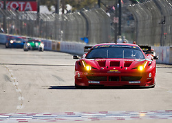 LONG BEACH, CA - APR 15: American Le Mans Driver Jaime Melo/Toni Vilander of the Risi Competizione Team  during practice run at start/finish lane. Photo by Eduardo E. Silva