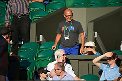LONDON, ENGLAND - Tuesday, July 1, 2014: Barbora Zahlavova Strycova's father Jindrich during the Ladies' Singles Quarter-Final match on day eight of the Wimbledon Lawn Tennis Championships at the All England Lawn Tennis and Croquet Club. (Pic by David Rawcliffe/Propaganda)
