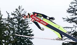 03.01.2015, Bergisel Schanze, Innsbruck, AUT, FIS Ski Sprung Weltcup, 63. Vierschanzentournee, Training, im Bild Vincent Descombes Sevoie (FRA) // Vincent Descombes Sevoie of France in action during Trial Jump of 63 rd Four Hills Tournament of FIS Ski Jumping World Cup at the Bergisel Schanze, Innsbruck, Austria on 2015/01/03. EXPA Pictures © 2015, PhotoCredit: EXPA/ Peter Rinderer