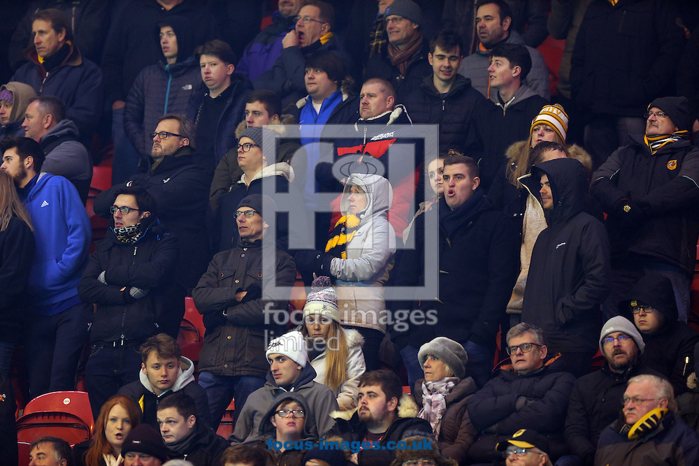 Hull City fans during the Premier League match at the Riverside Stadium, Middlesbrough<br /> Picture by Christopher Booth/Focus Images Ltd 07711958291<br /> 05/12/2016
