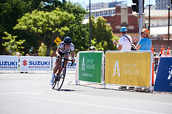 Daniella Reis (POR) attacks at Santos Women's Tour Down Under 2019 - Stage 4, a 42.5 km road race in Adelaide, Australia on January 13, 2019. Photo by Sean Robinson/velofocus.com
