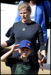 The Countess of Wessex  with her son James, Viscount Severn at the Royal Windsor Horse Show. Windsor, United Kingdom. Wednesday, 14th May 2014. Picture by Andrew Parsons / i-Images